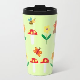 Meadow pattern Travel Mug