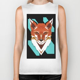 Red Fox GeoDesign - Artwork by Brandon F. Ottenbacher Biker Tank