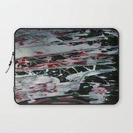 Black Pearl Abstract Ship At Night | Black and White Abstract | Corbin Henry Laptop Sleeve