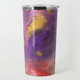 Autumn Leaves |Abstract with Gold Watercolor Travel Mug
