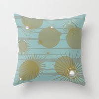 planets Throw Pillows featuring Planets by carriejeandesigns