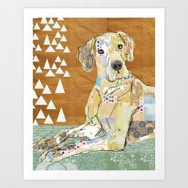 Great Dane Collage  Art Print