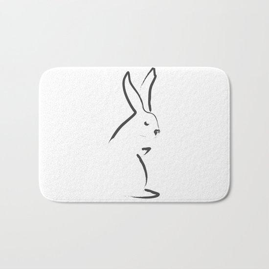 Zen Snow Bunny Bath Mat