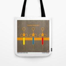 No165 My Planet terror minimal movie poster Tote Bag