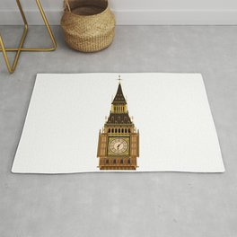 Big Ben Clock Face Rug
