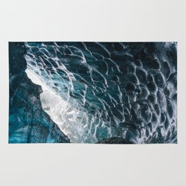 Cave of waves Rug