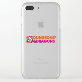 Dunkin' Dragons Clear iPhone Case