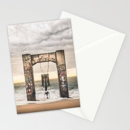 Girl and her swing Stationery Cards