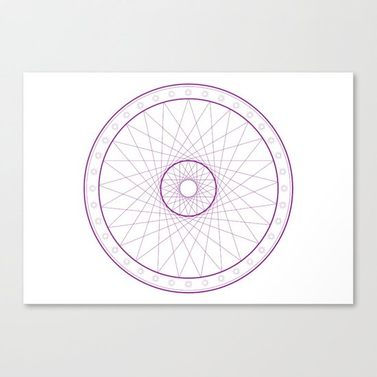 Anime Magic Circle 15 Canvas Print