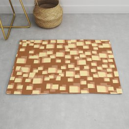 Abstract mail boxes pattern Rug