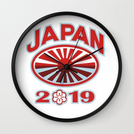 Japan 2019 Rugby Ball Retro Wall Clock