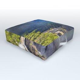 Wild waterfall in abstract Outdoor Floor Cushion