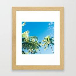 Aloha Hawaii Lahaina Palms Framed Art Print