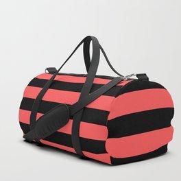 Stripes (Black & Red Pattern) Duffle Bag