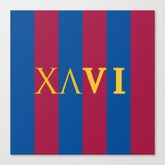 XAVI Blaugrana Type Logo Canvas Print
