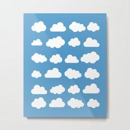 White clouds on a blue skies Metal Print