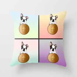 Luna & Ethereum Throw Pillow