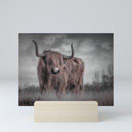 Highland Longhorn Bull Print Mini Art Print