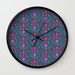 Kurbits Pattern - Balance - Scandinavian Folk Art Wall Clock