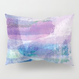 Afternoon by the Sea Abstract in Purple, Blue, Green, Pink Pillow Sham