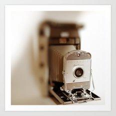 Polaroid 800 vintage camera Art Print