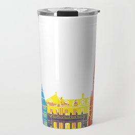 Strasbourg skyline pop Travel Mug