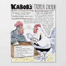 Kabobs Tropical Chicken Canvas Print