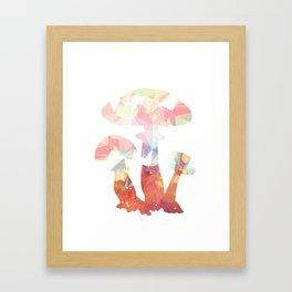 Crystal mushroom art print Framed Art Print