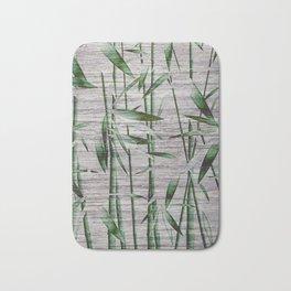 Winter Bamboo Leaves Bath Mat