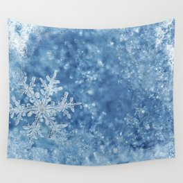 Winter wonderland Snowflakes Wall Tapestry