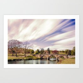 Paine`s Bridge, Chatsworth, Derbyshire, UK. Art Print