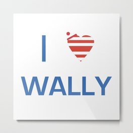 I Heart Wally Metal Print
