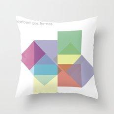 concert des formes Throw Pillow