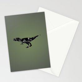 T-rex - black and gray Stationery Cards