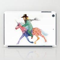 cowboy bebop iPad Cases featuring Cowboy by Ksenia Sapunkova