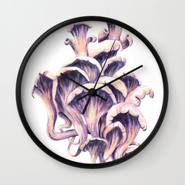 Oyster Mushroom Wall Clock