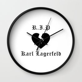 RIP Karl Lagerfeld Calligraphy Wall Clock
