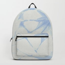 Shibori Starburst Sky Blue on Lunar Gray Backpack