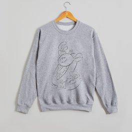 Pirate Ship Wheel - ink Crewneck Sweatshirt