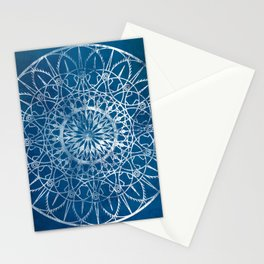 Fire Blossom - Blue Stationery Cards