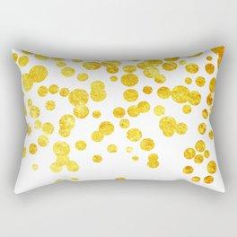 Celebrate | Gold Confetti Rectangular Pillow