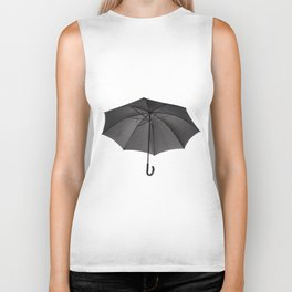 black umbrella with curved handle Biker Tank