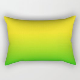 GREEN YELLOW Neon color ombe pattern  Rectangular Pillow