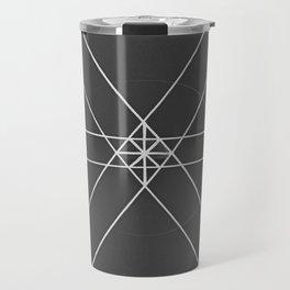 Gray Lines and Crossings Travel Mug