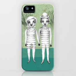 gymnast couple in the forest iPhone Case