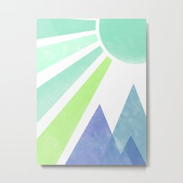Sunshine on the Mountain Metal Print