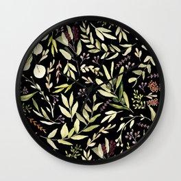 Eucalyptus in Autumn Wall Clock