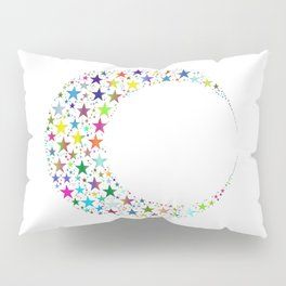 Colorful Cresent Moon Pillow Sham