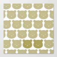teddy bear Canvas Prints featuring Teddy by ColourMoiChic