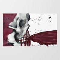 in the flesh Area & Throw Rugs featuring Flesh Tear by Daniella Walker